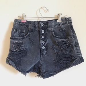 Carmar distressed ripped gray shorts size 25